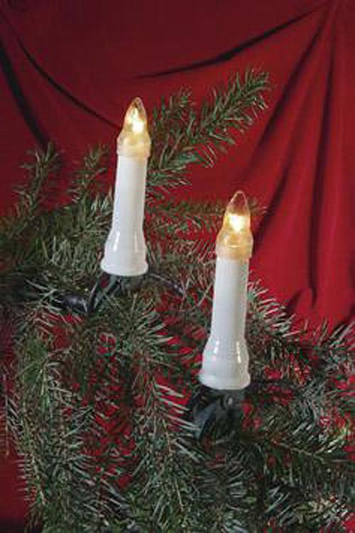 16er LED Weihnachts Kerzenlichterkette