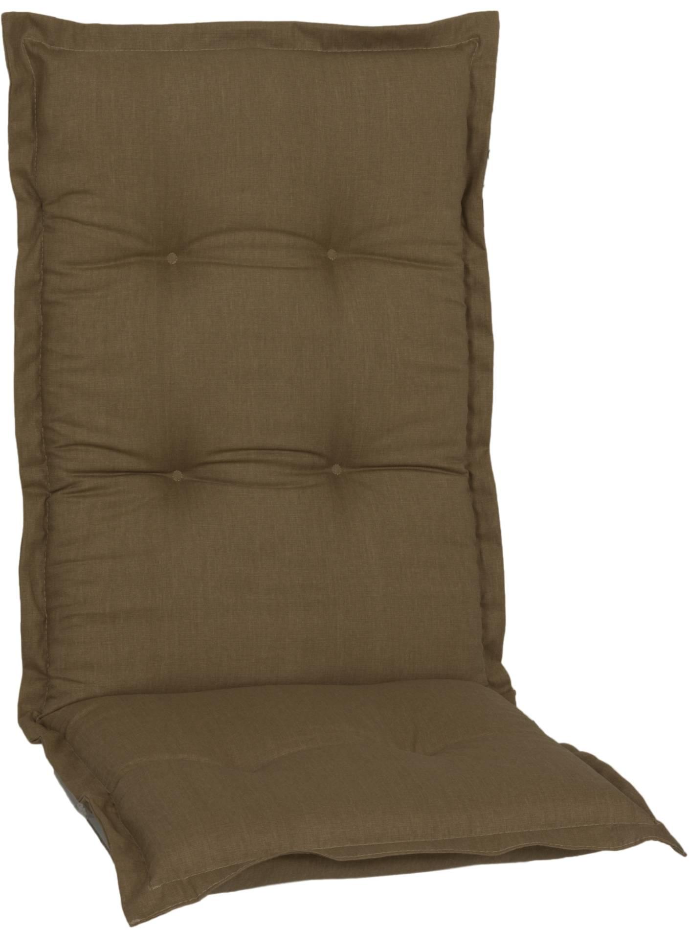 Sitzkissen für Hochlehner in sand premium Qualität mit Punkt Steppung