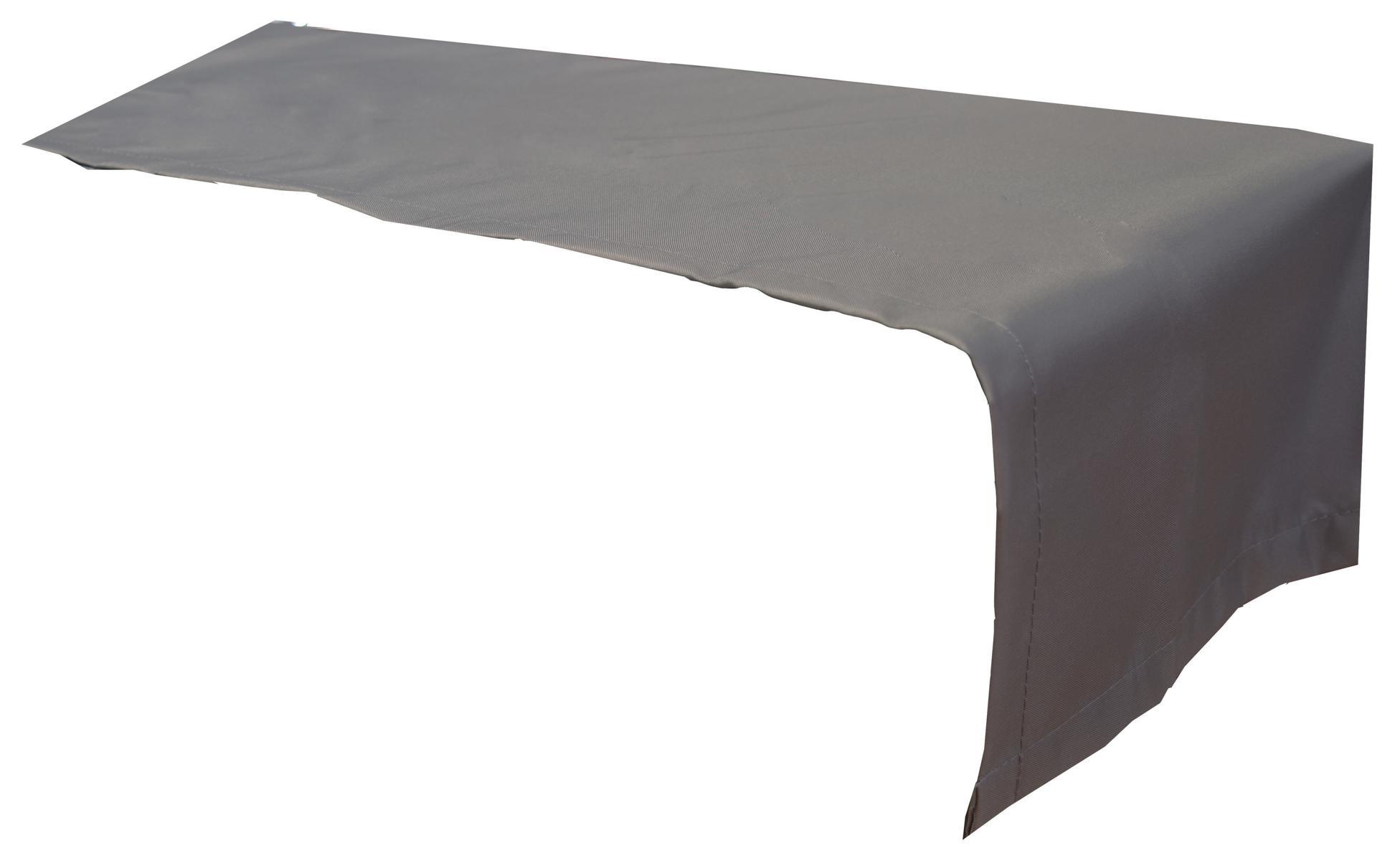 Tischläufer 120x45 cm wasserabweisend 100% Polyester in anthrazit