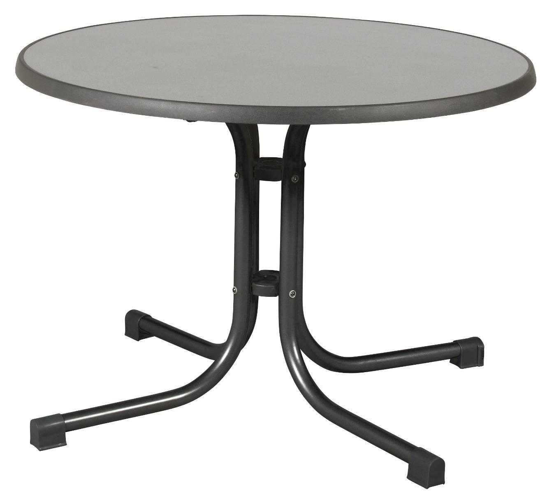 acamp 56670 Tisch Piazza 100 cm Durchmesser anthrazites Gestell puntinella Tischplatte 72 cm hoch