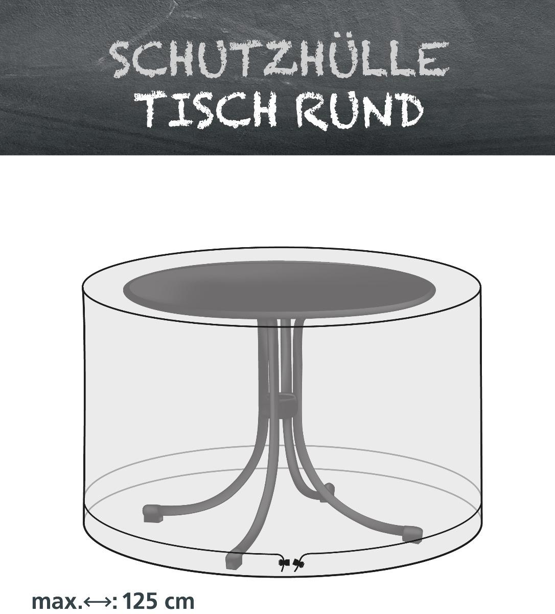 LLK Abdeckhülle für Tisch rund 125cm