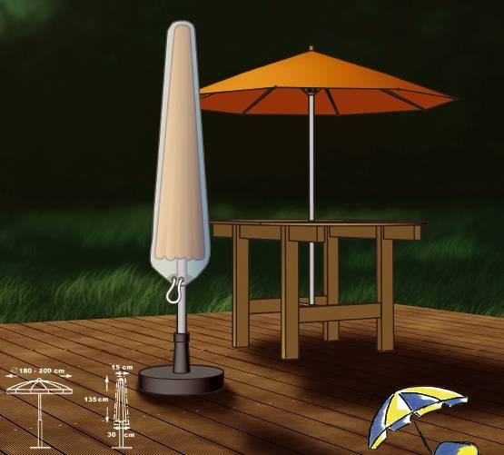 Schutzhülle für Sonnenschirme 180 cm bis 200 cm von beo