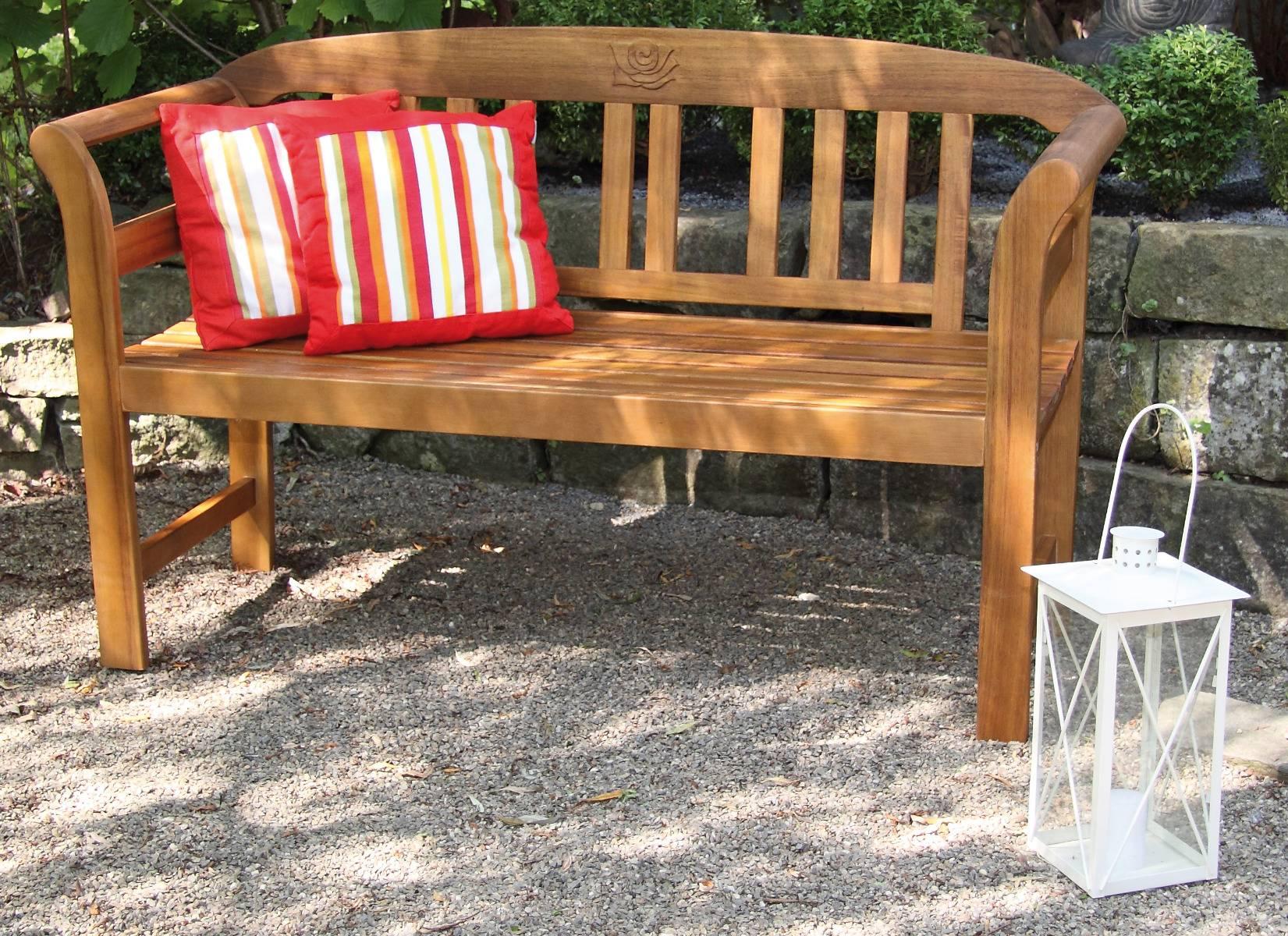 Batam 2-Sitzer Gartenbank von acamp aus Akazienholz mit Teaköl Finish