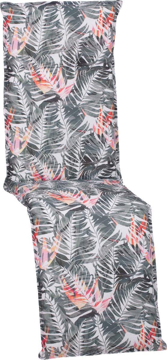 beo Gartenmöbel Auflage für Relaxstuhlkissen Palmen rosa grau BE037