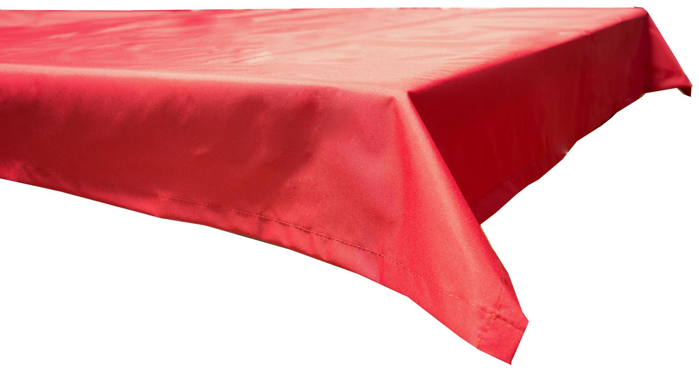 Wasserabweisende Tischdecke 100% Polyester in rot 110x140 cm