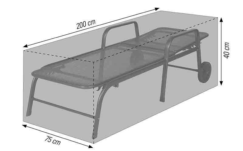 Schutzhülle für Roll- oder Dreibeinliegen 200x75x40cm anthrazit acamp cappa Typ 57721