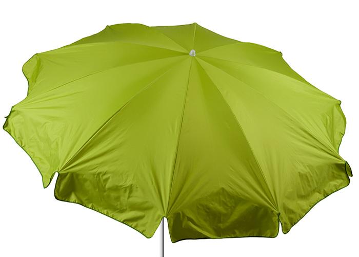 240 cm Durchmesser hellgrüner Sonnenschirm Bespannung 100% Polyester wasserabweisend 2