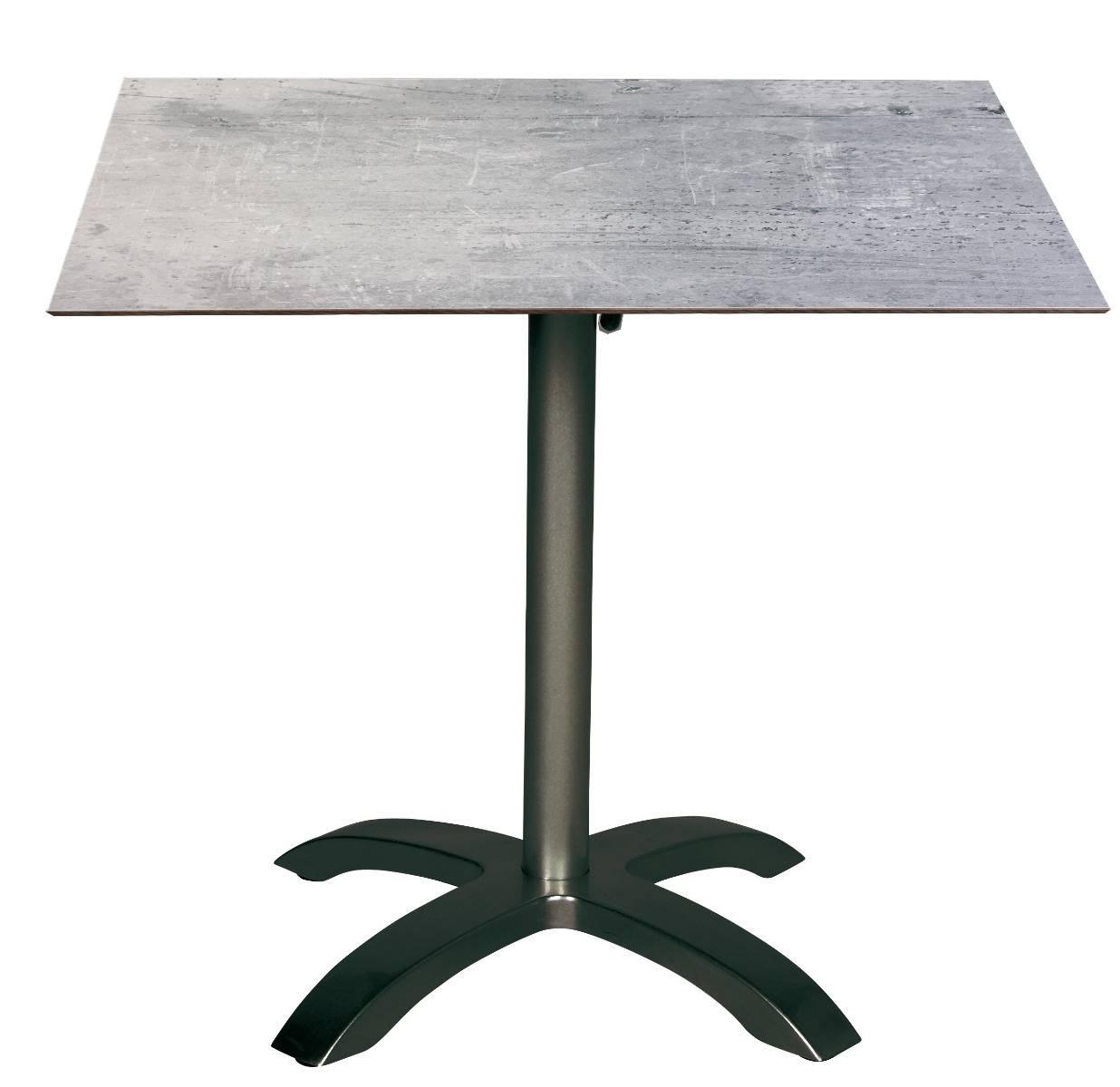 acamp Bistrotisch acaplan 80x80cm anthrazit cemento grigio
