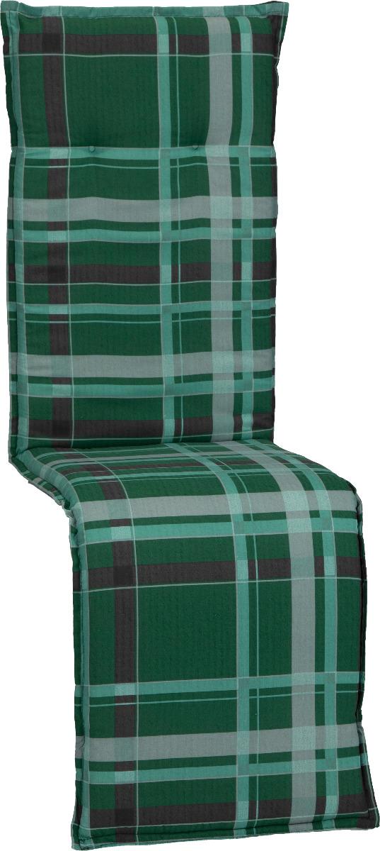 beo Gartenmöbel Auflage für Relaxstühle in karo grün hellgrüne Streifen M900