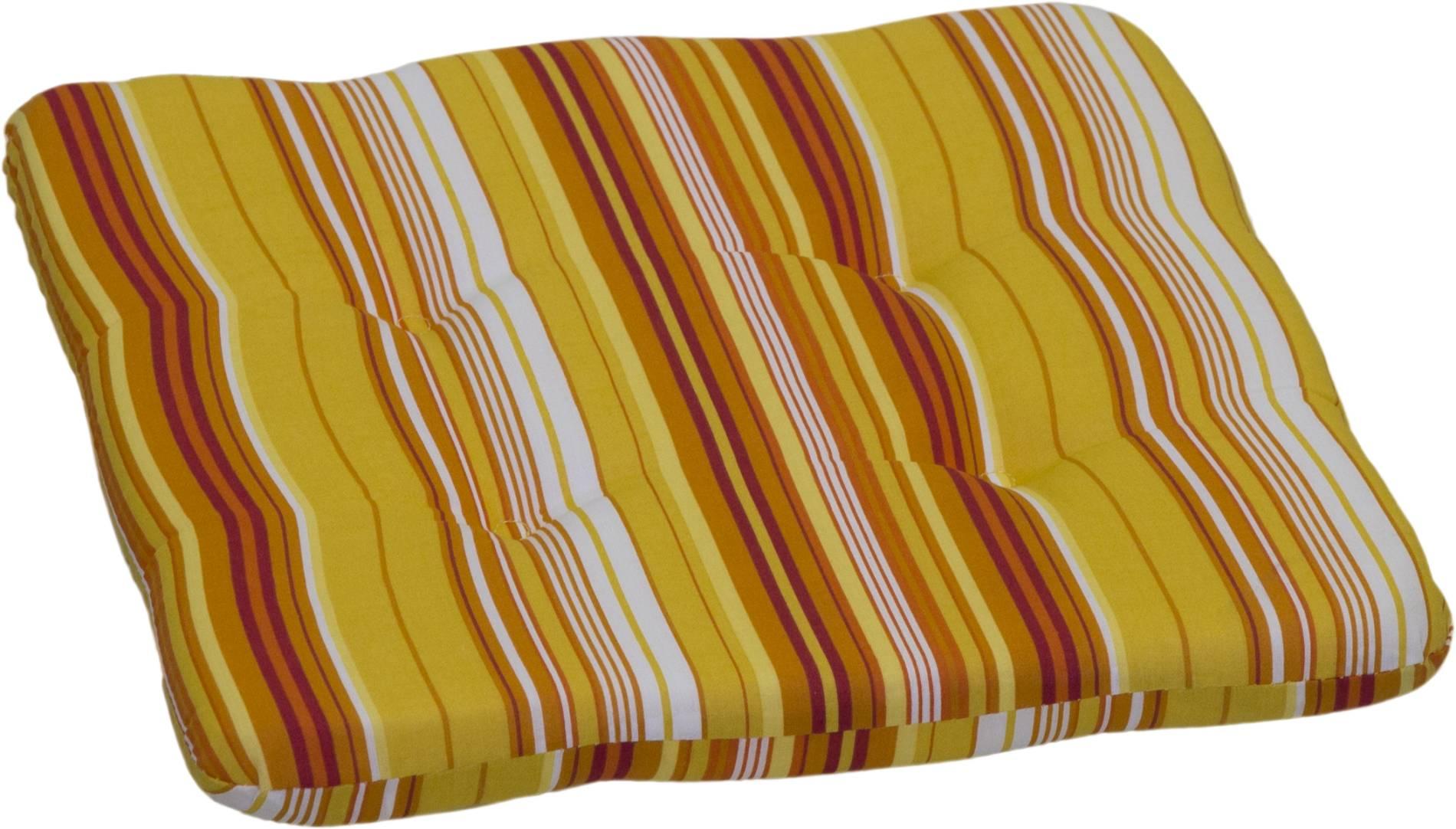 Orange gestreifte Sitzkissen Stuhlkissen ca. 36x36 cm