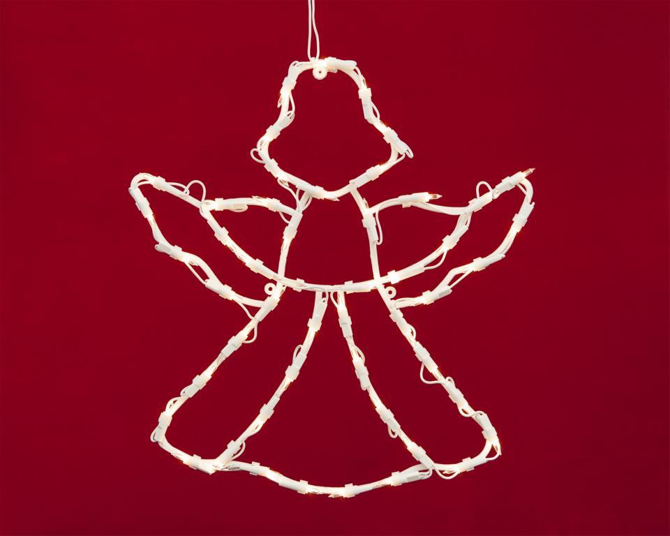 3D Lichtschlauch Silhouette Engel Weihnachtsengel Weihnachtsbeleuchtung