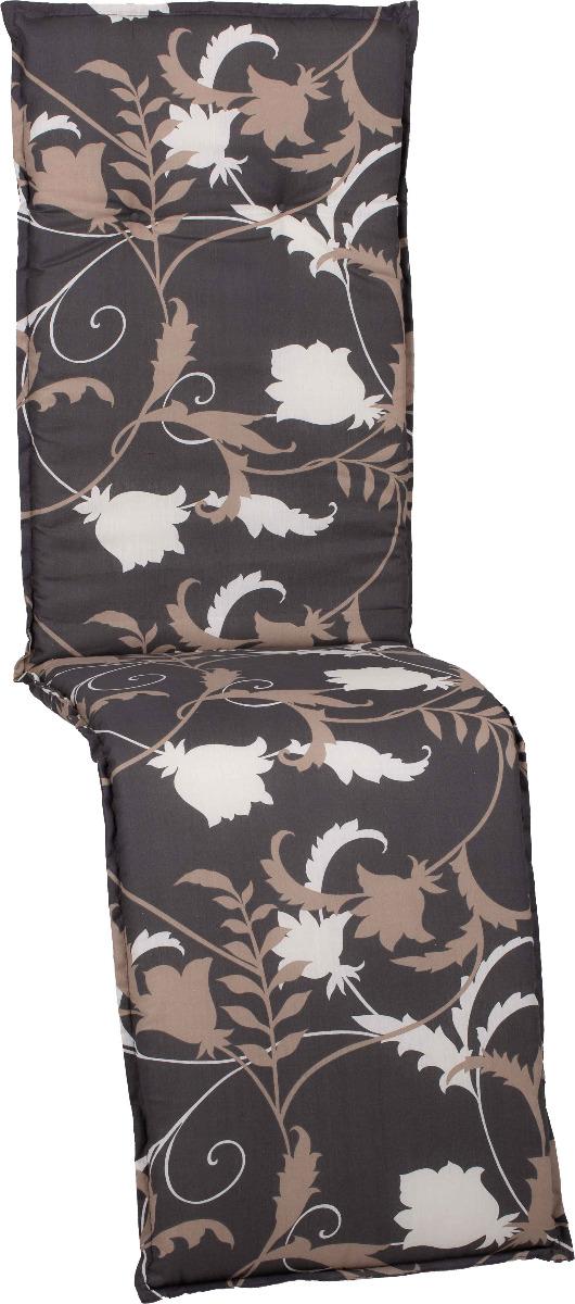 beo Gartenmöbel Auflage Blumen grau beige für Relaxstühle Bata M918