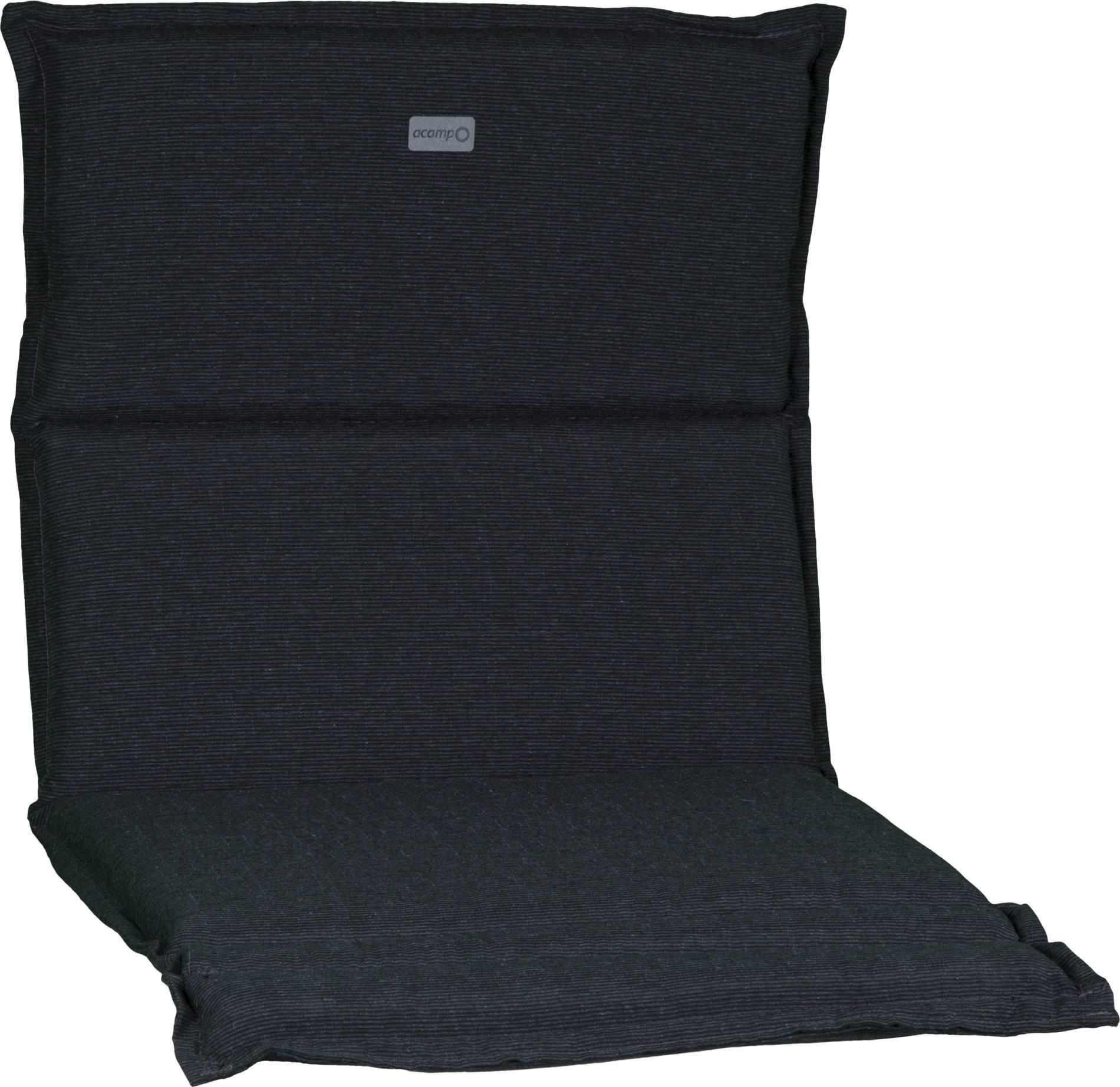 acamp Sesselkissen dunkelgrau meliert Typ-B 92 x 47 x 4 cm passend für niedrige acatop und albergo Gartenstühle