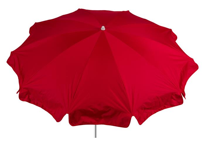 Polyester Terrassenschirm in rot mit 200 cm Durchmesser Bespannung 100% Polyester wasserabweisend 2