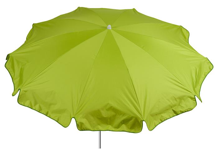 Sonnenschirm Polyester in hellgrün mit 200 cm Durchmesser Bespannung 100% Polyester wasserabweisend 2