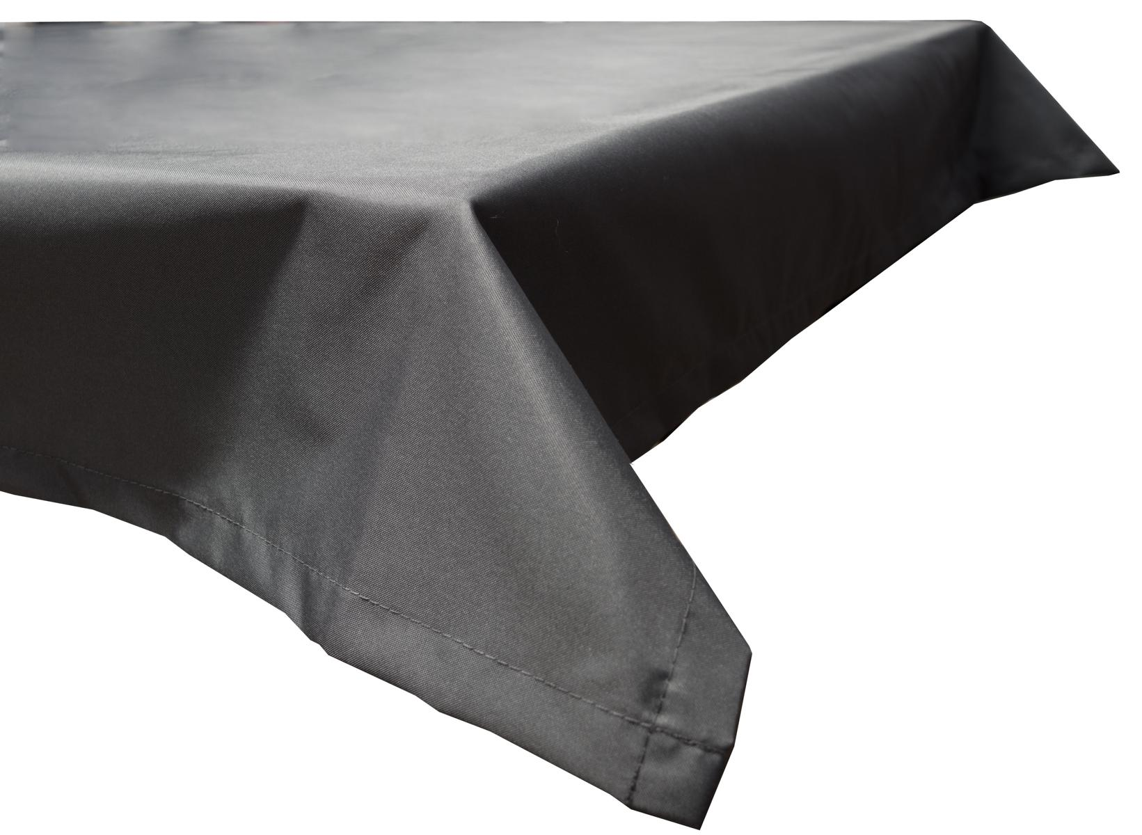 130x180 cm wasserabweisende Tischdecke 100% Polyester in anthrazit