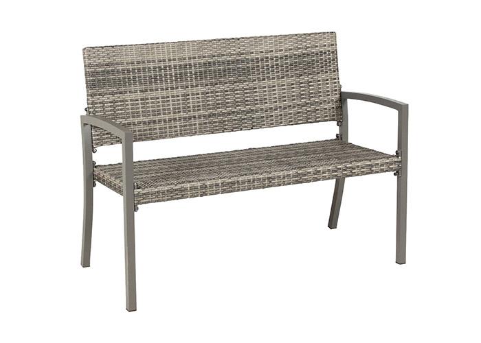 Dijon 2-Sitzer Gartenbank von acamp in anthrazit grau meliert