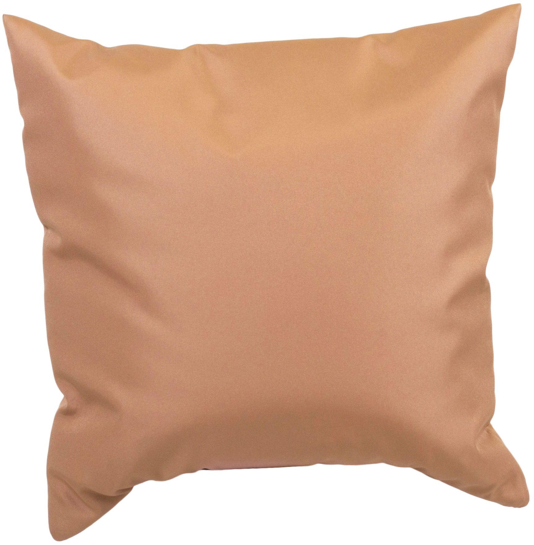 Dekokissen ca. 45 x 45 cm für Lounge Gruppen in sand wasserabweisend aus 100% Polyester