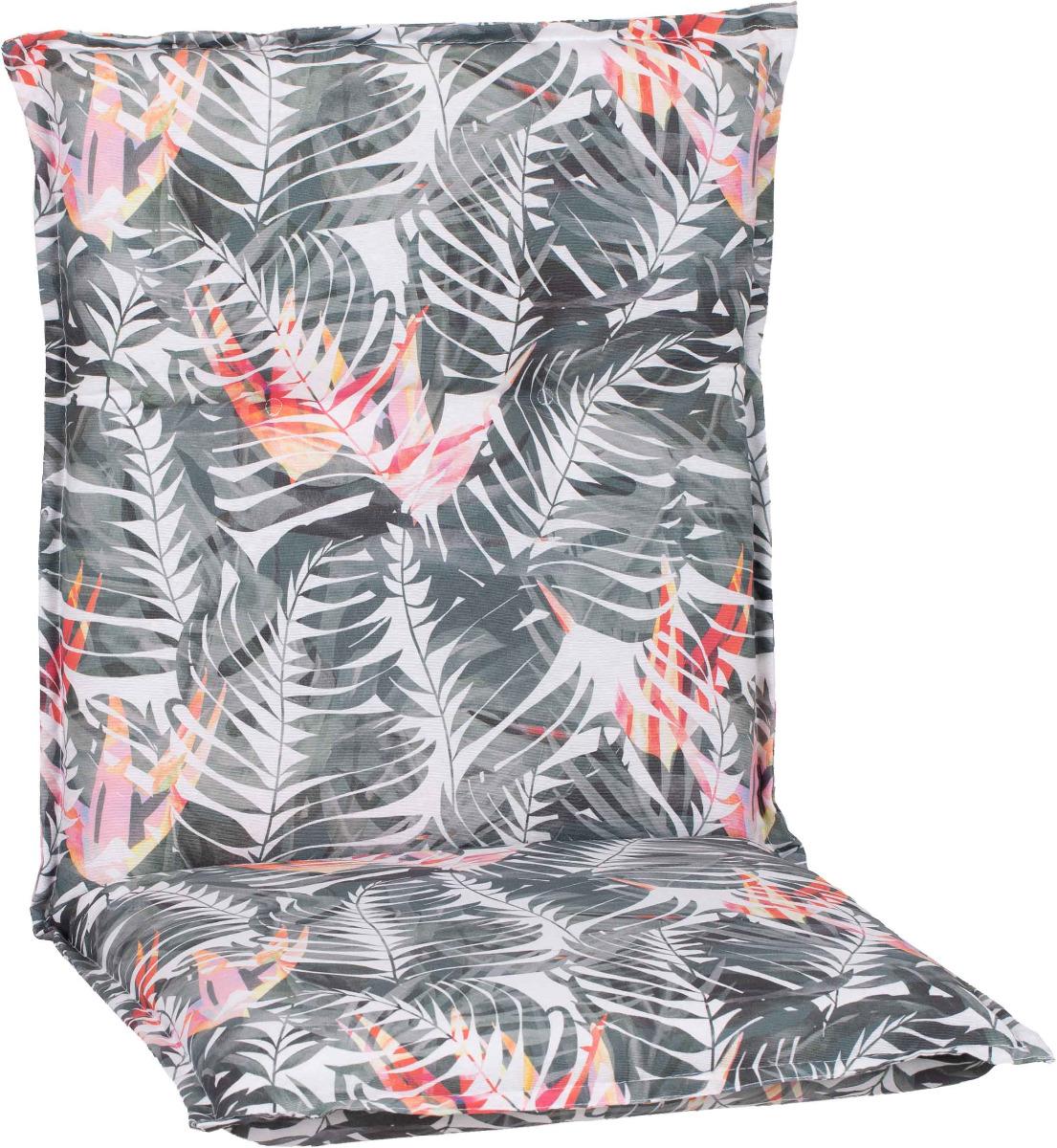 beo Gartenmöbel Auflage für Niedriglehner Palmen rosa grau BE037