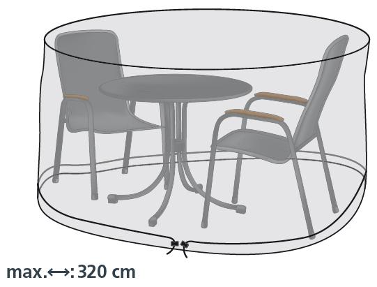 LLK Abdeckhülle für Sitzgruppe rund 320cm