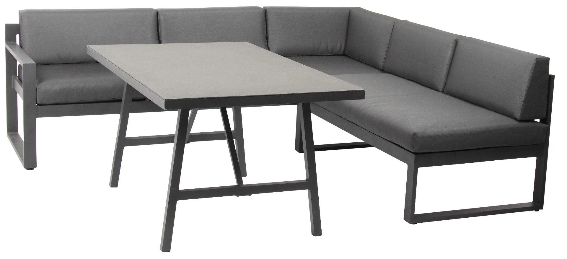 Signature Lounge Set 3-teilig Aluminium mit Spraystone Tisch