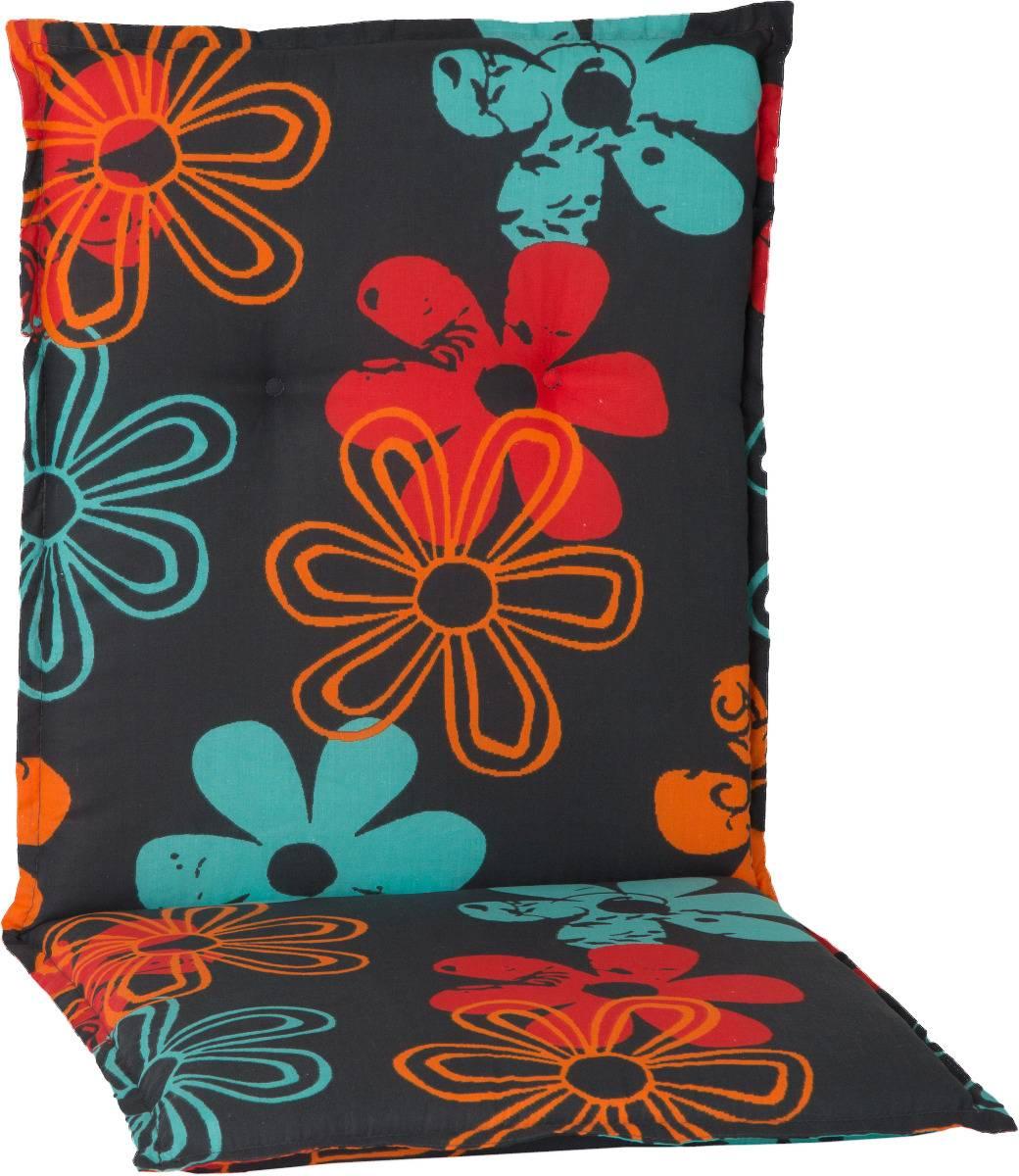 Gartenmöbel Auflage für Niederlehner in Blumen orange türkis rot
