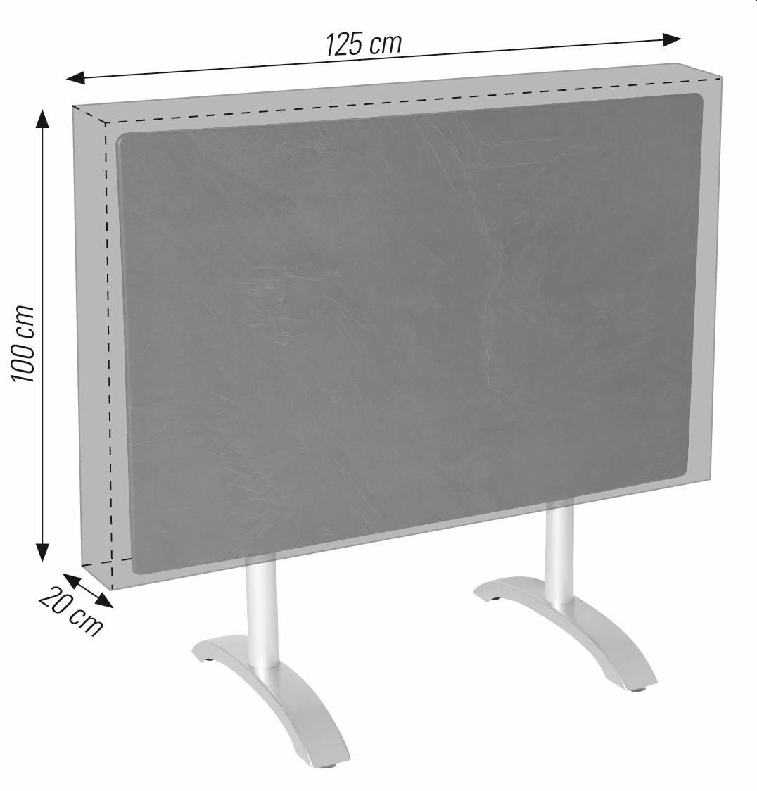 Schutzhülle für Boulevard Gartentische 110x70 bis 120x80 cm acamp cappa Typ 57704
