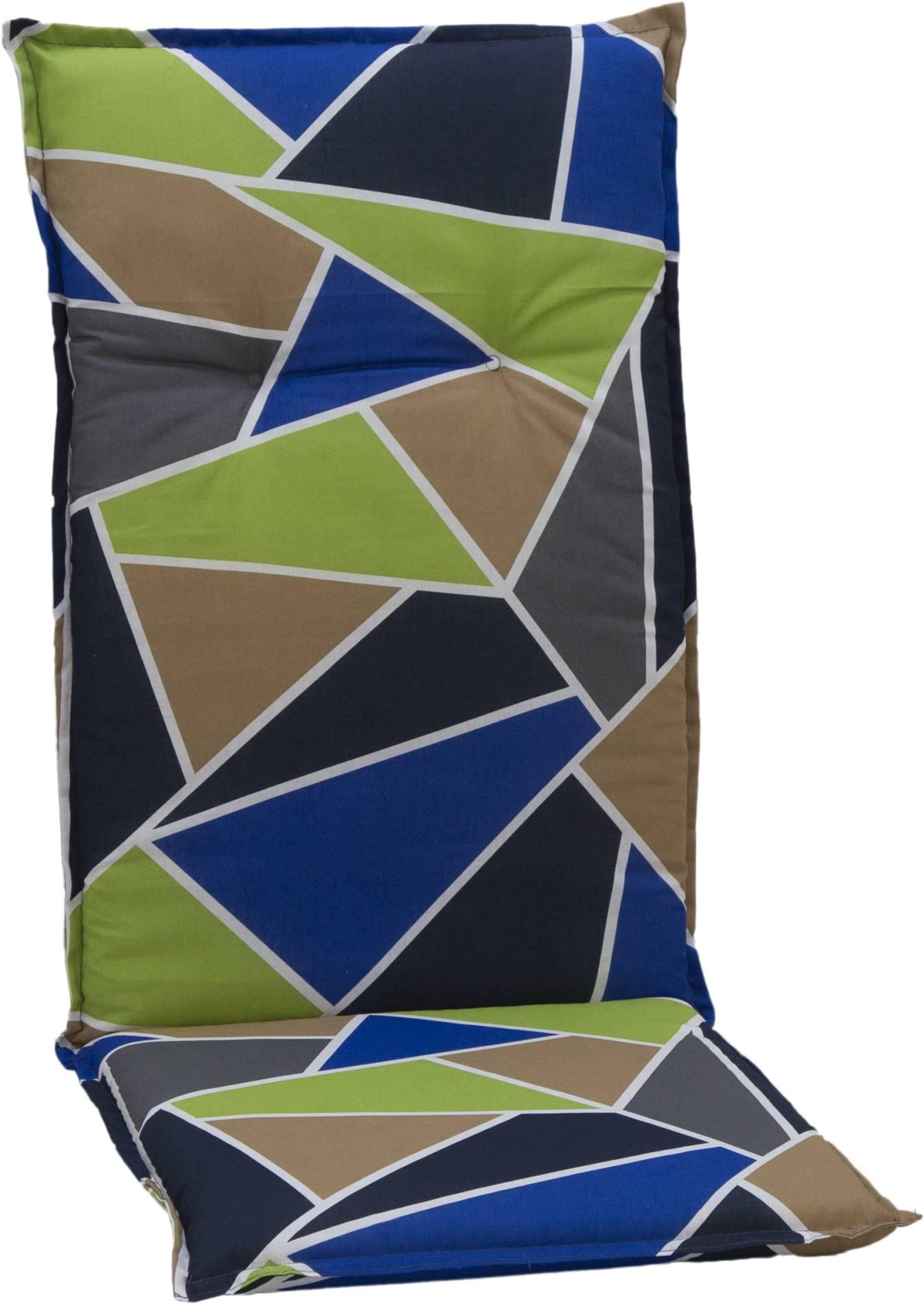 beo Gartenmöbel Auflage bunte Dreiecke für Hochlehner Bilbao M653