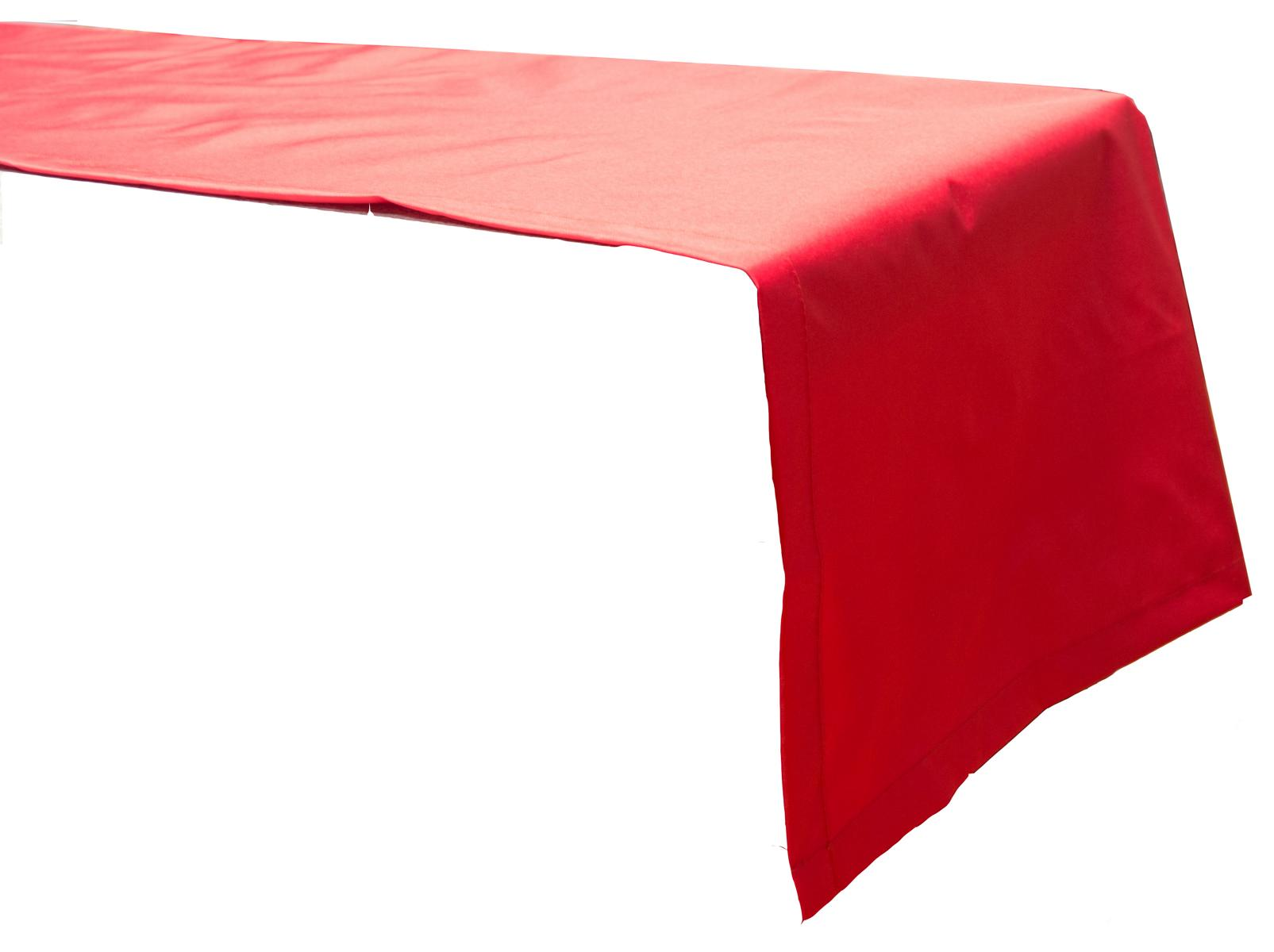 Tischläufer 120x45 cm wasserabweisend 100% Polyester in rot