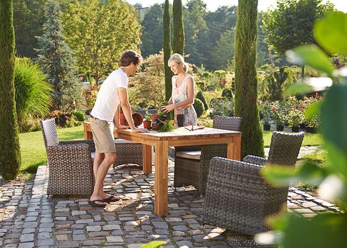 granada Lounge-Set 3-tlg.  Akazienholz 100% FSC, natur geölt, 92,0 kg brutto