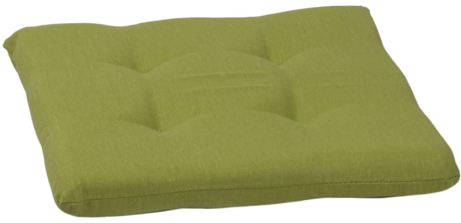 Schaumblock Sitzkissen in hellgrün für Sessel ca. 41 x 41 cm eckige Form