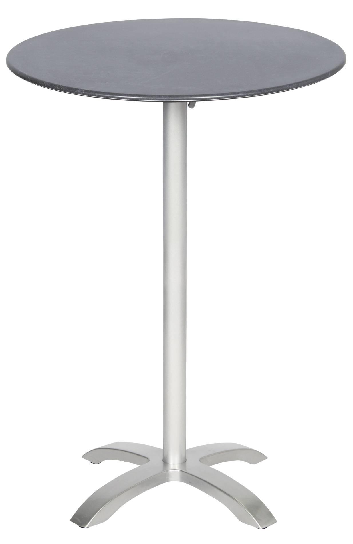 acamp 56636 Stehtisch Acaplan platinfarbendem Gestell Schieferoptik Tischplatte 110 cm hoch