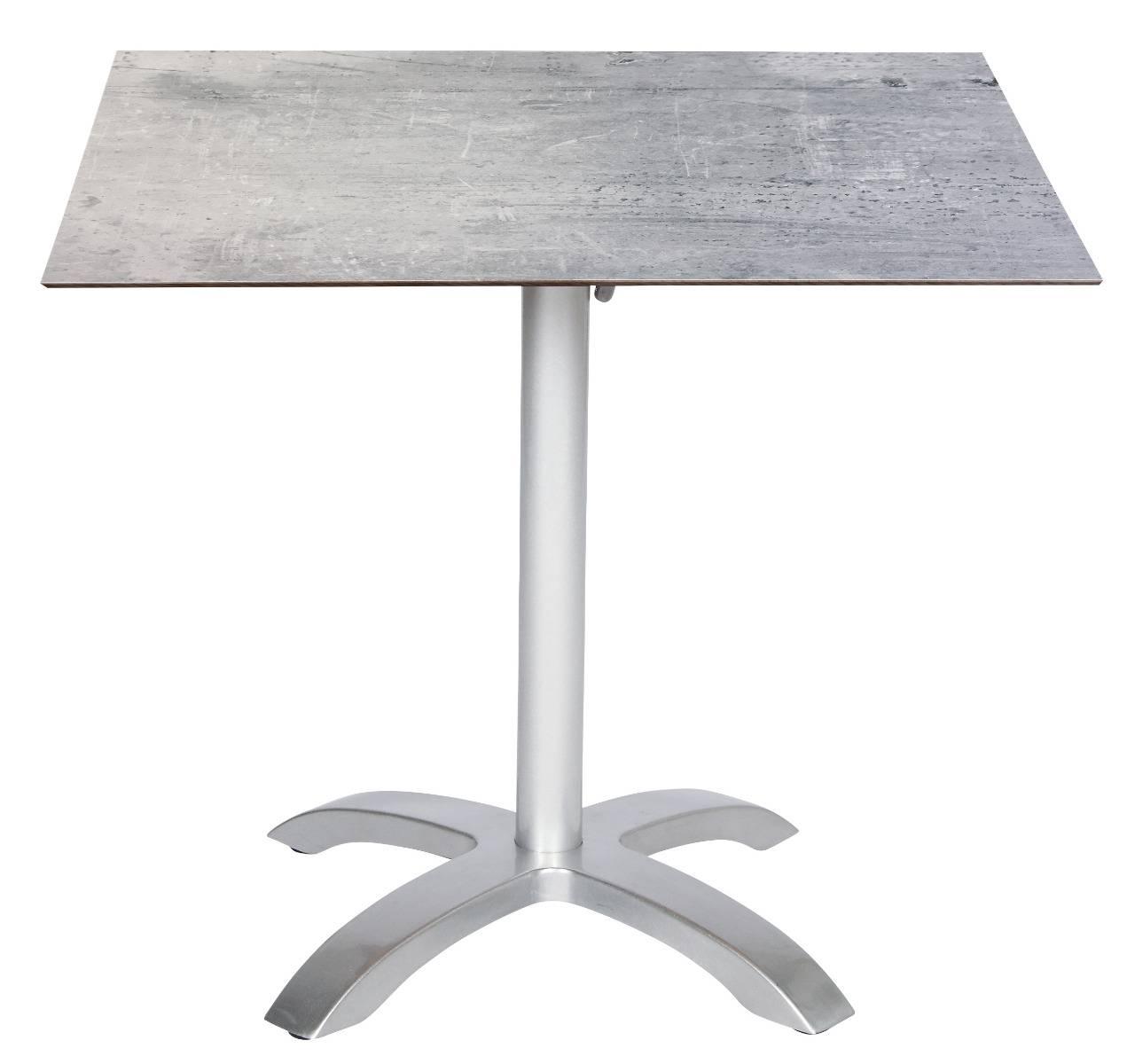 acamp Bistrotisch acaplan 80x80cm platin cemento grigio