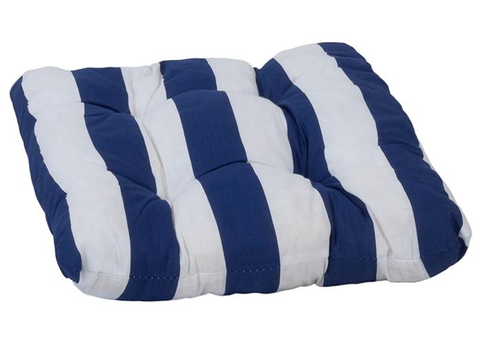 Sitzkissen Streifen blau weiss ca. 38 x 38 cm
