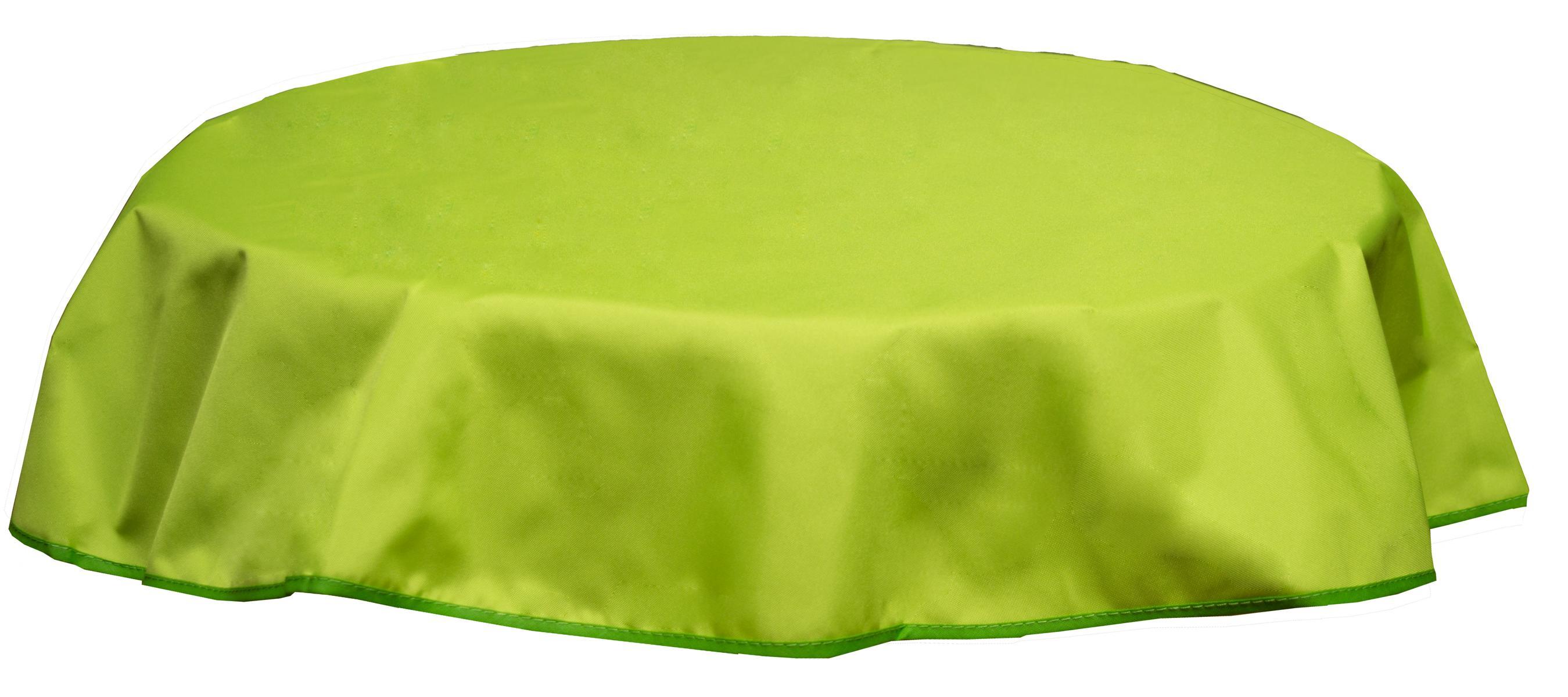 Runde Tischdecke 160cm wasserabweisend 100% Polyester in hellgrün