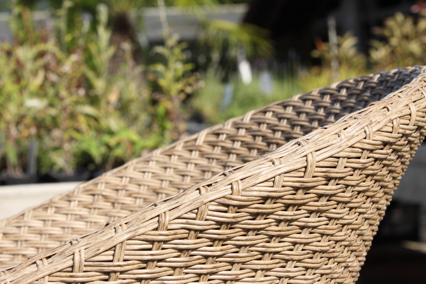 acamp Atacama Gartenmöbelset 4x Clubsessel 57439 und 1x Gartentisch 57440 180 x 90 cm