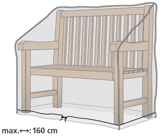 Schutzhülle für 160cm breite Gartenbänke von beo