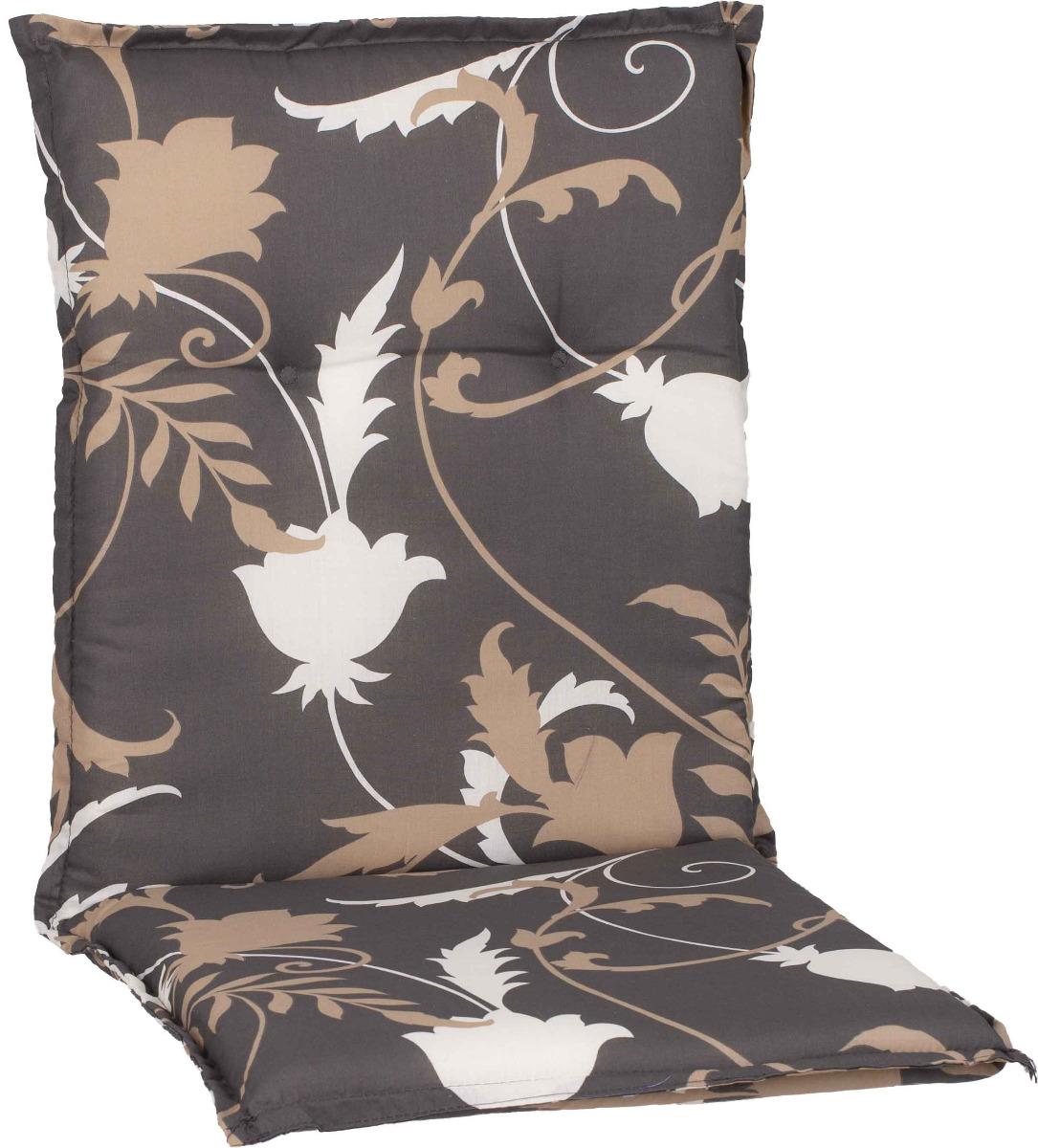 beo Gartenmöbel Auflage Blumen grau beige für Niedriglehner Bata M918