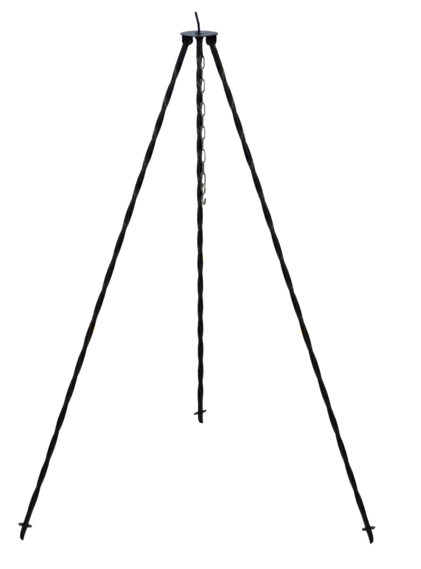 Dreibein Gestell inklusive Kette zum Aufhängen von Kesseln