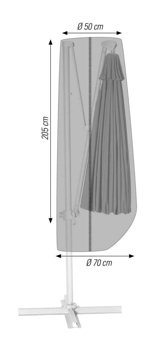 Schutzhülle für Ampelschirme bis 300 cm anthrazit acamp cappa Typ 57714