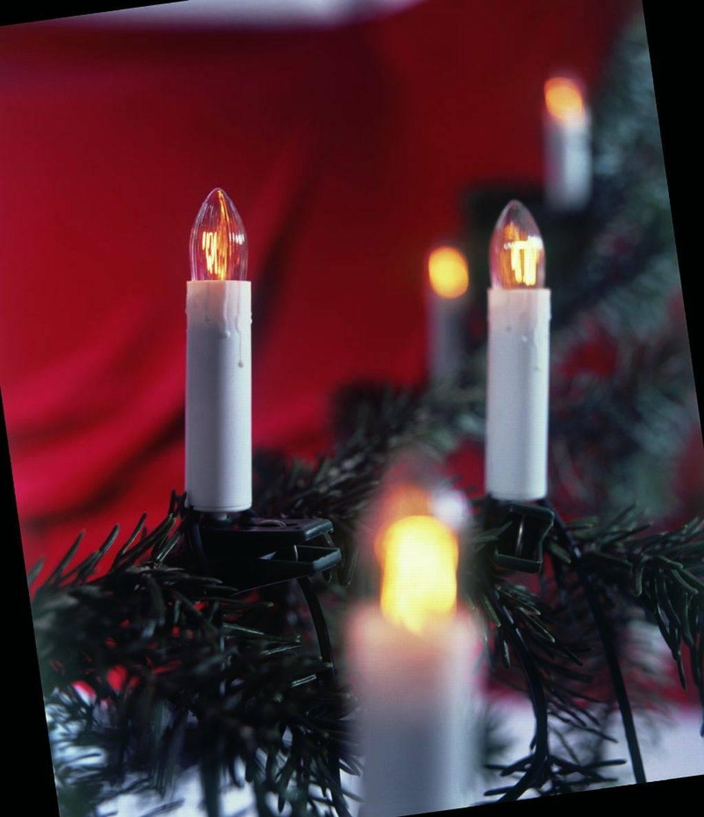 20er Kerzenlichterkette mit hohem Schaft Weihnachtsbaumbeleuchtung Dekoration kein LED