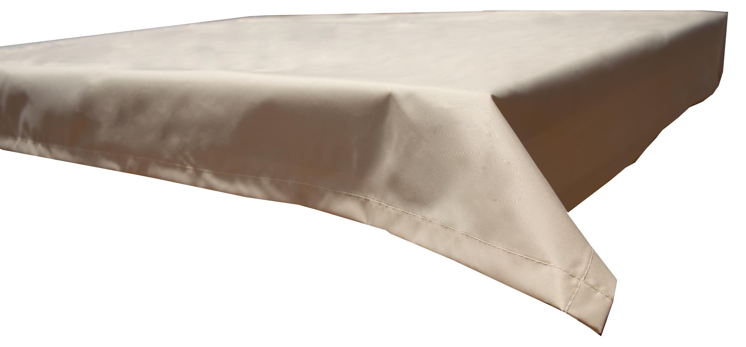 130x180 cm wasserabweisende Tischdecke 100% Polyester in beige