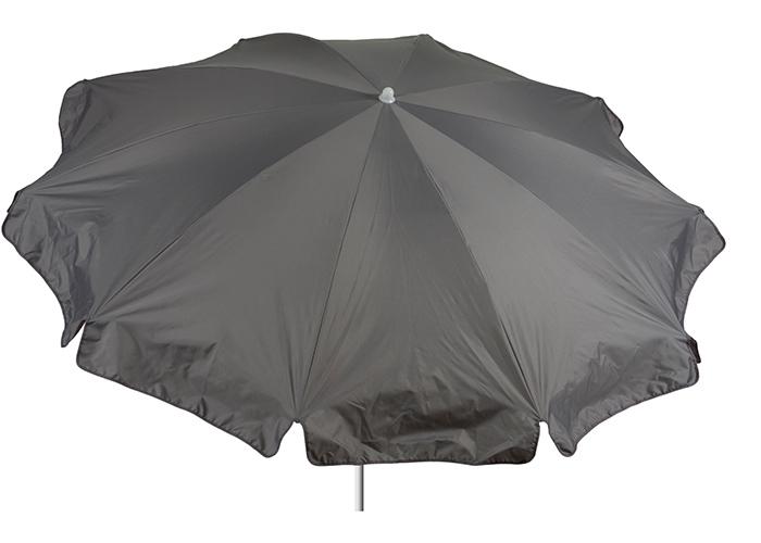 200 cm Durchmesser wasserabweisender Sonnenschirm in grau Bespannung 100% Polyester wasserabweisend 2