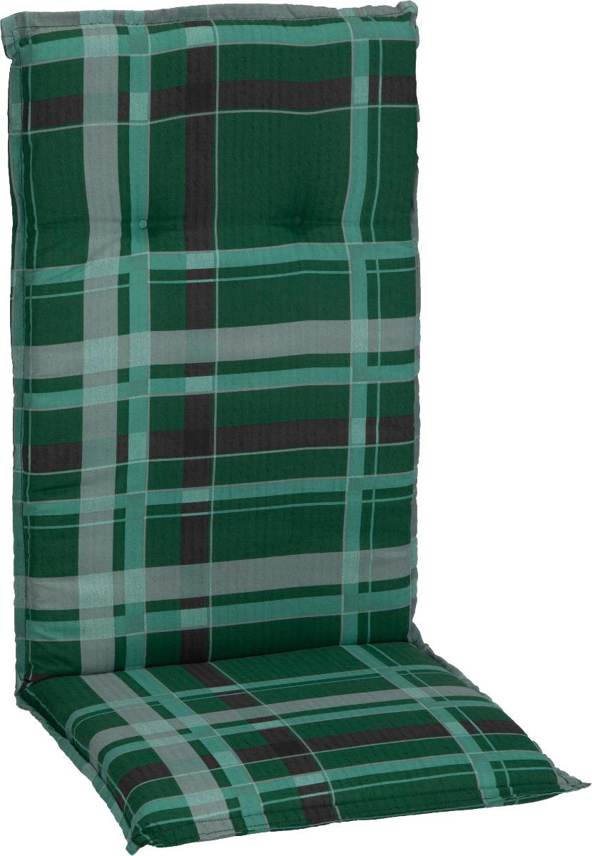 beo Gartenmöbel Auflage für Hochlehner in karo grün hellgrüne Streifen M900