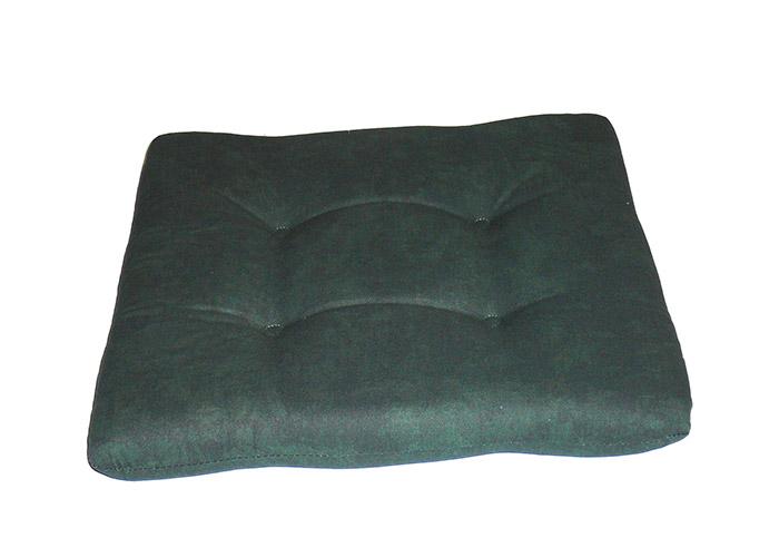 Sitzkissen aus Weichschaum marmoriert dunkelgrün