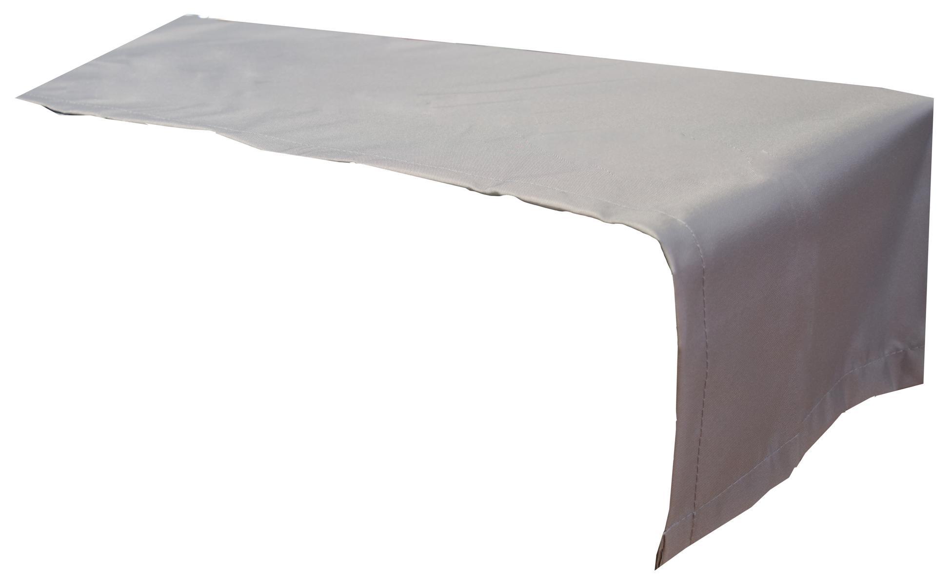 Tischläufer 120x45 cm wasserabweisend 100% Polyester in hellgrau