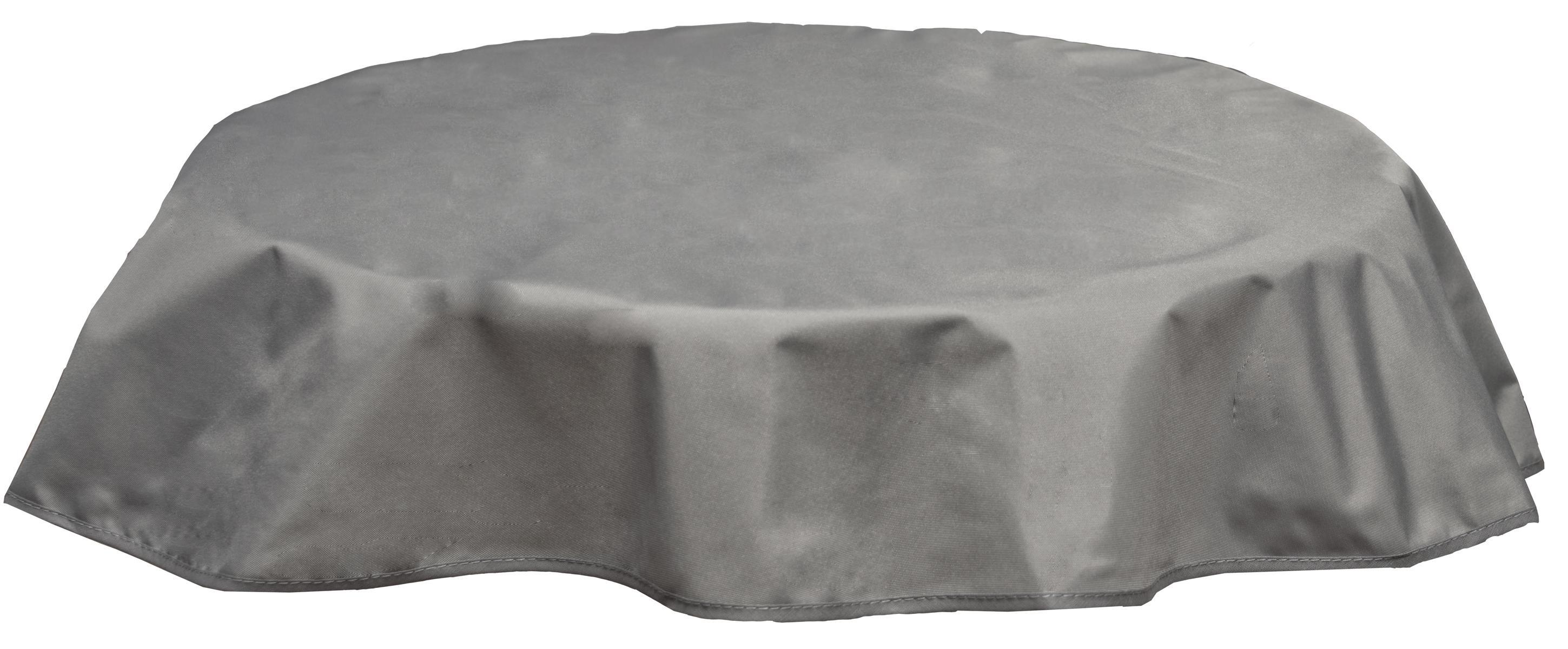 Runde Tischdecke 120cm wasserabweisend 100% Polyester in hellgrau