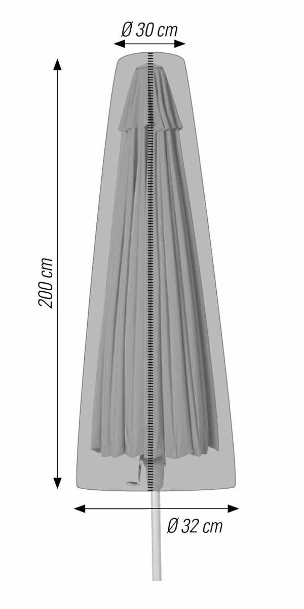 Schutzhülle für Sonnenschirme bis 400 cm anthrazit acamp cappa Typ 57712