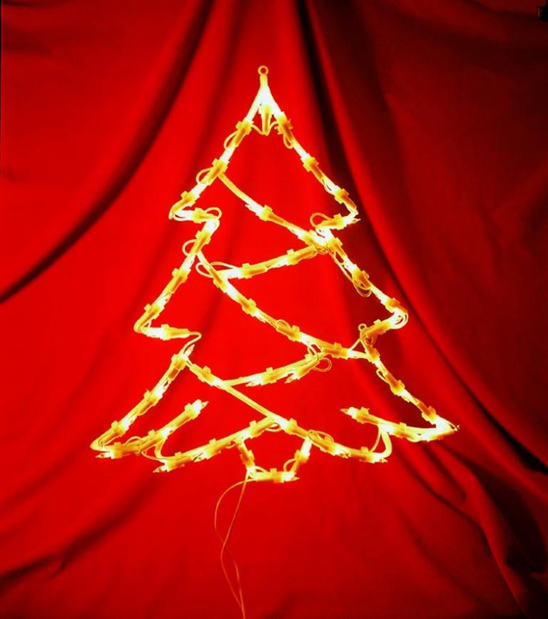3D schmaler Lichtschlauch Silhouette Tanne Weihnachtsbaum Weihnachtsbeleuchtung