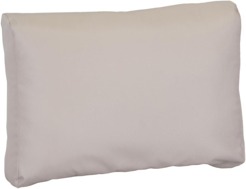 Lounge Rückenkissen Premium ca. 80 x 40 cm beige wasserabweisend aus 100% Polyester